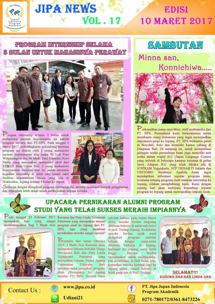 JIPA NEWS Vol. 17 - Maret 2017